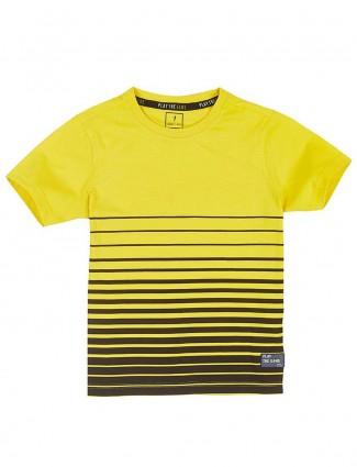 Indian Terrain boys stripe yellow t-shirt