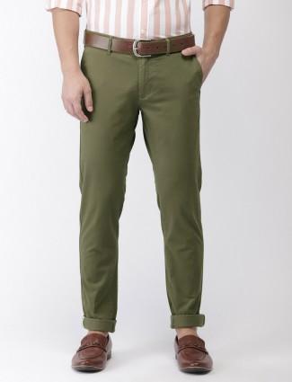 Indian Terrain casual wear green trouser