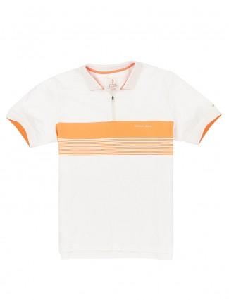 Indian Terrain cotton white stripe t-shirt