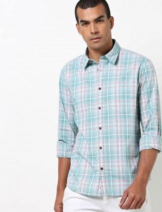 Indian Terrain green checks casual shirt