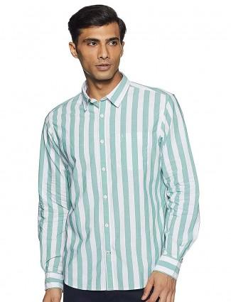 Indian Terrain green stripe pattern shirt