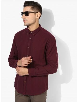 Indian Terrain栗色棉质衬衫