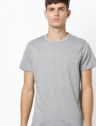 印度地形纯灰色修身T恤