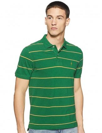 Indian Terrain presented stripe green t-shirt