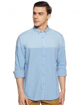 Indian Terrain天蓝色纯色衬衫