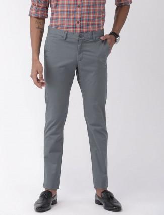 Indian Terrain修身版型灰色印花长裤
