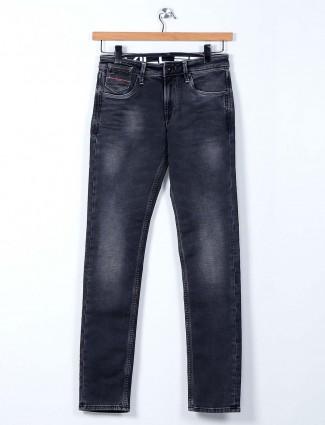 Killer black skinny fit washed jeans