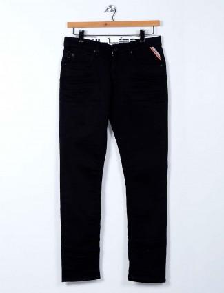 Killer black solid mens jeans