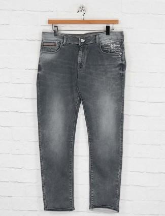 Kozzak grey washed effect jeans