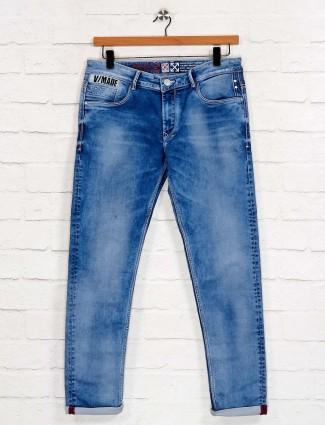 Kozzak presented latest solid blue jeans