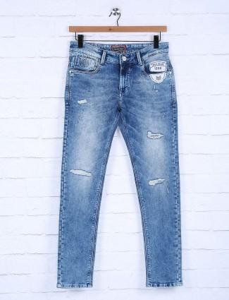 Kozzak regular blue ripped jeans
