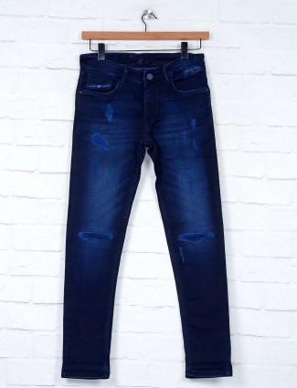Kozzak ripped dark navy fancy jeans