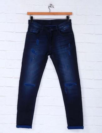 Kozzak ripped dark navy latest jeans