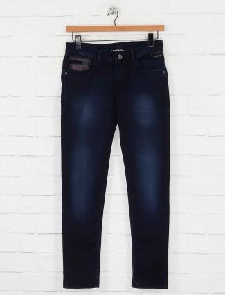 Kozzak slim fit dark navy color jeans