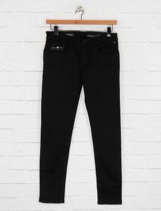 Kozzak solid black casual jeans