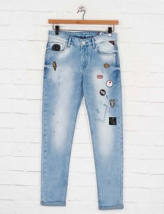 Kozzak solid blue color jeans