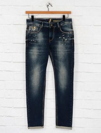 Kozzak solid navy hued jeans