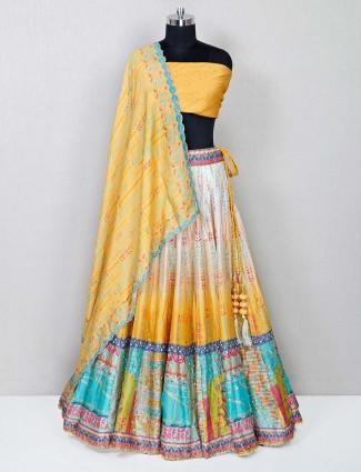 Latest designer yellow wedding lehenga choli