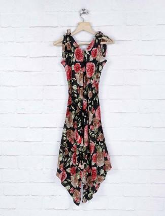 Leo N Babes black color printed cotton dress