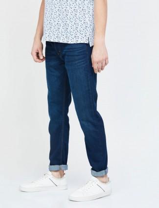 Levis 512 taper slim fit solid royal blue jeans