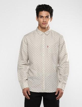 Levis beige printed linen shirt