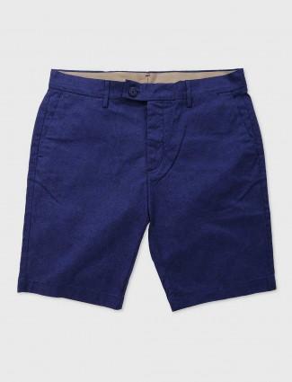 Levis blue cotton casual wear shorts