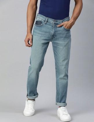 Levis blue denim washed 511 slim fit jeans