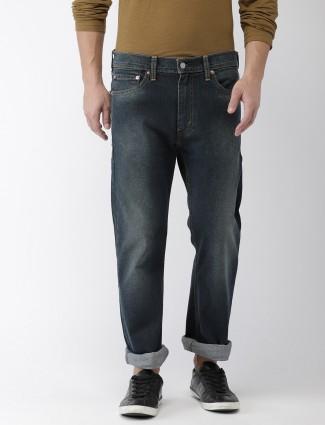 Levis denim solid navy hued jeans