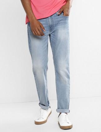 Levis light blue washed 511 slim fit jeans