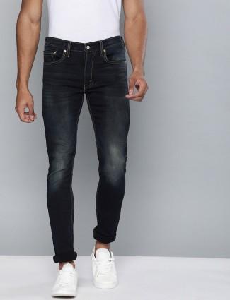 Levis navy solid 519 super skinny jeans