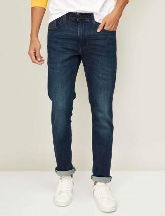 Levis navy washed 511 slim fit denim jeans