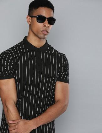 Levis polo neck black stripe t-shirt