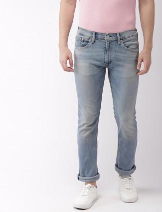 Levis slim fit light blue hue jeans