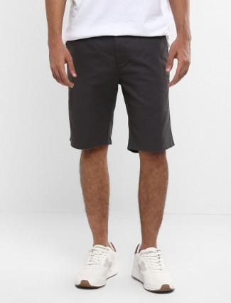 Levis solid black cotton short