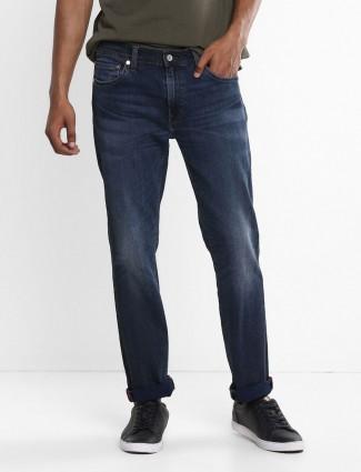 Levis solid blue 511 slim fit jeans