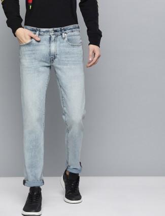 Levis washed 511 slim fit blue jeans