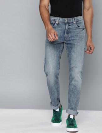 Levis washed blue 511 slim fit jeans