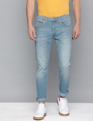 Levis washed blue 65504 skinny fit jeans