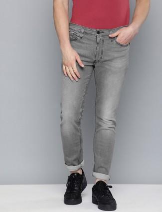 Levis washed grey 511 slim fit jeans