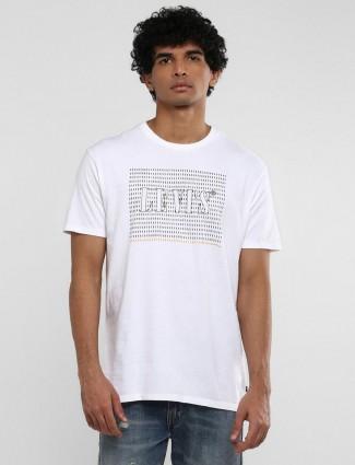 Levis white cotton printed t-shirt