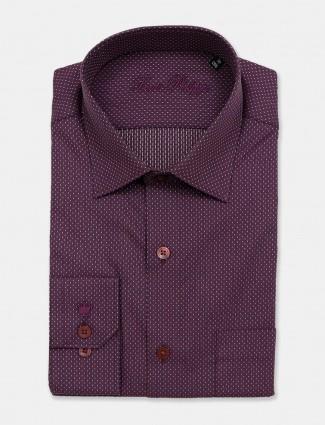 Louis Philippe printed formal violet shirt