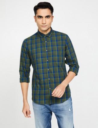 LP checks dark green mens shirt