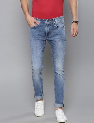 LP mens washed effect blue color jeans