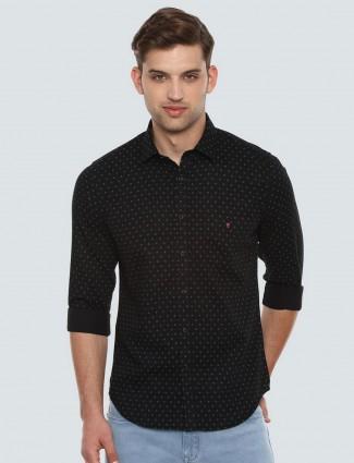 LP presented black polka dot shirt