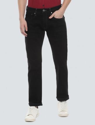 LP solid black slim fit casual wear jeans