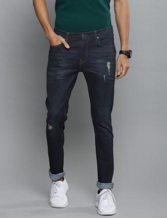 LP solid navy denim slim fit jeans