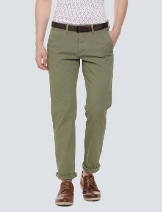 LP Sport olive hued cotton fabric trouser