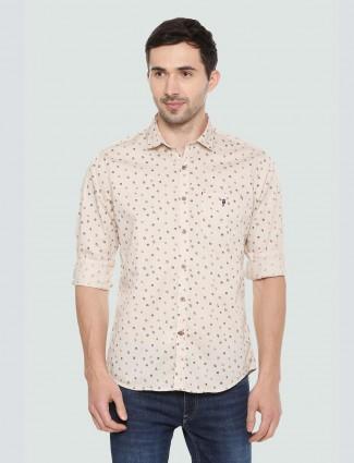 LP Sport printed beige hued shirt