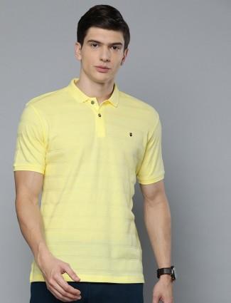 LP Sport yellow solid mens t-shirt