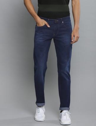 LP Sports solid blue slim fit jeans